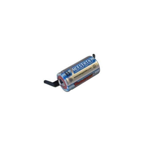 Pile NiMH Sub C 3800 mAh avec languettes - 1,2V - Tenergy