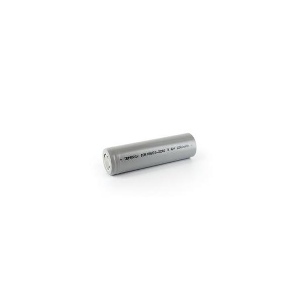 Pile rechargeable Li-Ion 18650 - 3,6V - 2200 mAh avec languettes