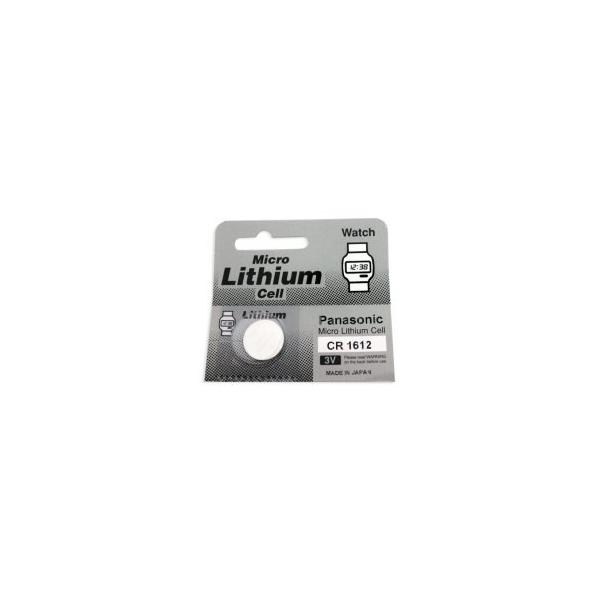 Pile bouton lithium CR1612 - 3V - Panasonic