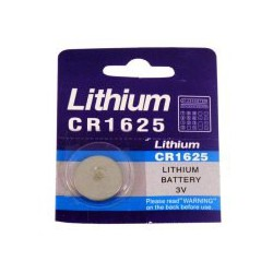 Pile bouton lithium CR1625 - 3V - Evergreen