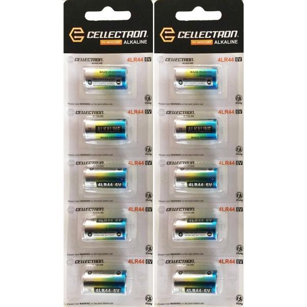 4LR44 10 Piles Alcaline A544 / PX28 4LR44 6V Cellectron