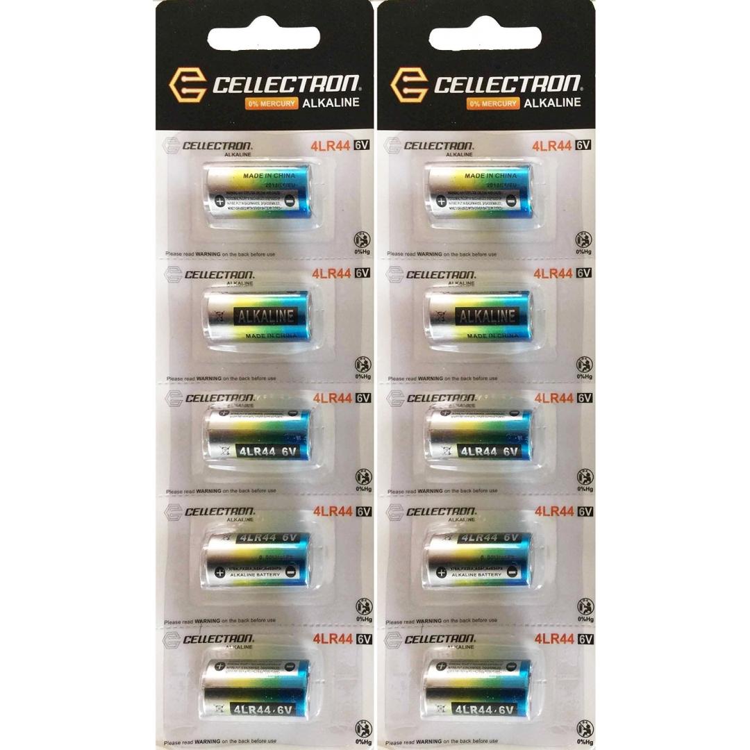 10 x piles alcalines 4lr44 675a l1325 6v cellectron. Black Bedroom Furniture Sets. Home Design Ideas