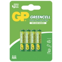 Blister de 4 piles AAA / R03 GREENCELL