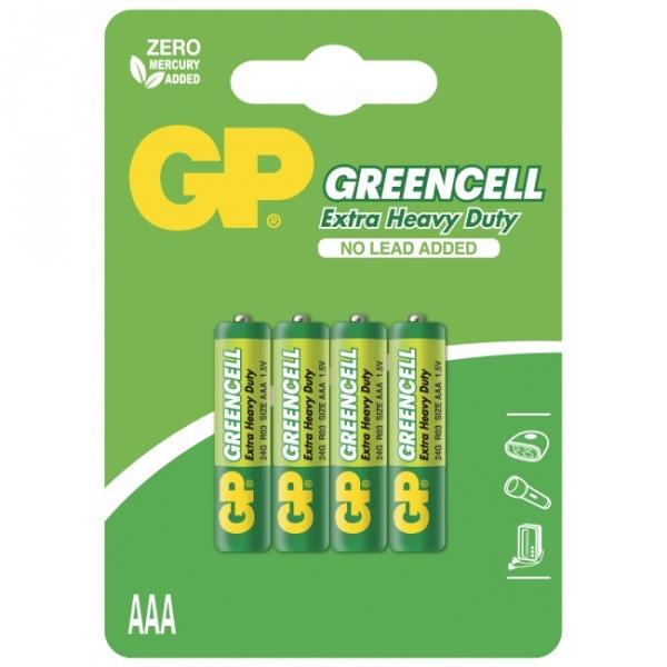 Blister de 4 piles saline AAA / R03 1,5V GREENCELL