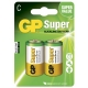 Blister de 2 piles alcaline C / LR14 SUPER - GP Battery