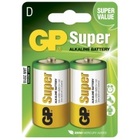 Blister de 2 piles alcaline D / LR20 SUPER - GP Battery