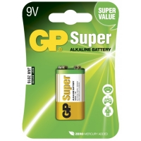 Blister de 1 pile alcaline 9V / 6LF22 SUPER - GP Battery