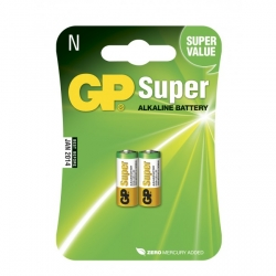 Blister de 2 piles alcaline N / LR01 SUPER - 1,5V - GP Battery