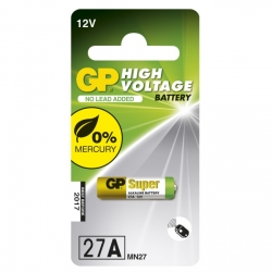 Carte de 1 pile alcaline 27A / MN27 - 12V - GP Battery