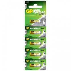 Carte de 5 piles alcaline 27A / MN27 - 12V - GP Battery