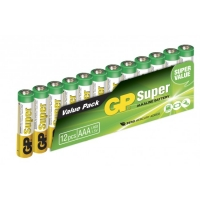Film de 12 piles alcaline AAA / LR03 SUPER - 1,5V - GP Battery
