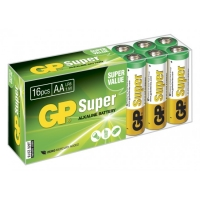 Boîte plexi de 16 piles alcaline AAA / LR03 SUPER - 1,5V - GP Battery
