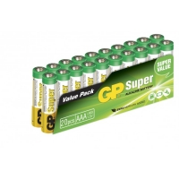 Film de 20 piles alcaline AAA / LR03 SUPER - 1,5V - GP Battery