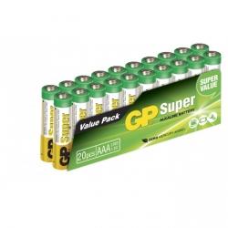 Film de 20 piles alcaline AAA / LR03 SUPER - 1,5V - GP Battery