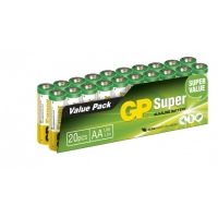 Film de 20 piles alcaline AA / LR6 SUPER - 1,5V - GP Battery