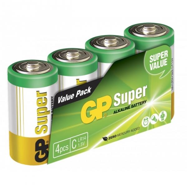 Film de 4 piles alcaline C / LR14 SUPER - 1,5V - GP Battery