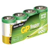 Film de 4 piles alcaline D / LR20 SUPER - 1,5V - GP Battery