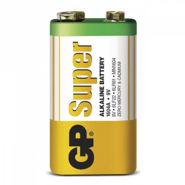 Film de 1 pile alcaline 9V / 6LF22 SUPER - 9V - GP Battery