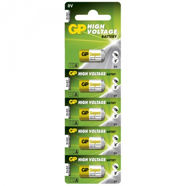 Carte de 5 piles alcaline 10A / L1022 - 9V - GP Battery