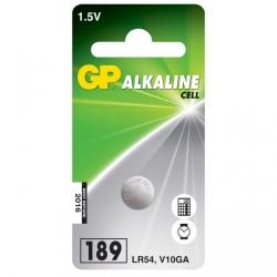 Blister de 1 pile GP 189 / LR54 / V10GA - 1,5V - GP Battery