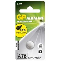 Pile bouton alcaline GP A76 / LR44 / V13GA - 1,5V - GP Battery