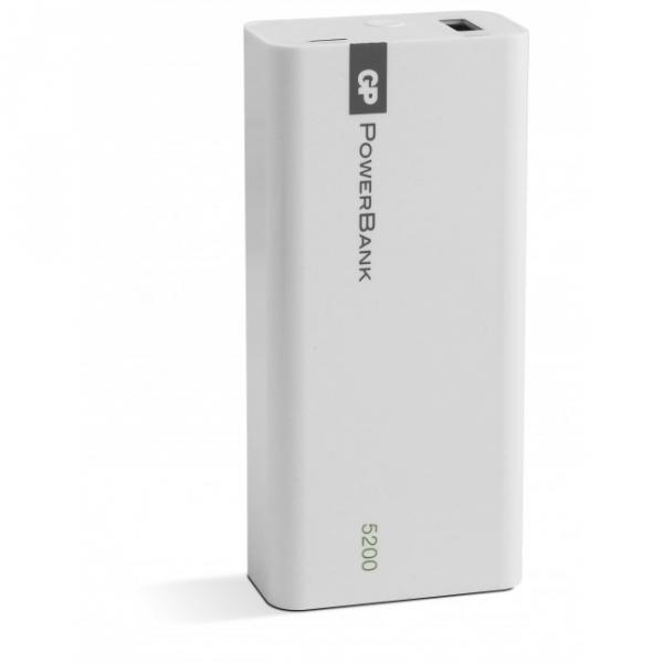 GP PowerBank Yolo 5200 mAh, 1C05A, Blanc