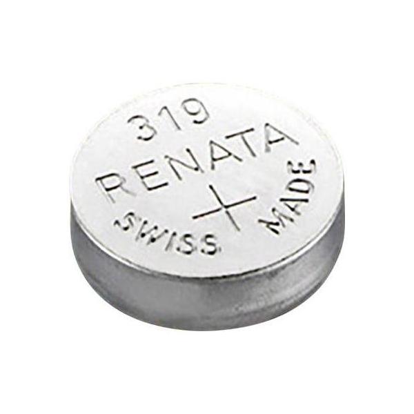 Pile bouton SR64 / 319 - 1,55V - oxyde d'argent - Renata