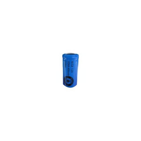 Pile NiCD 2/3 AA 400 mAh tête plate - 1,2V - Evergreen