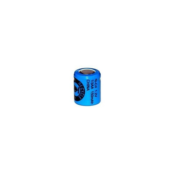 Pile NiCD 1/3 AA 150 mAh tête plate - 1,2V - Evergreen
