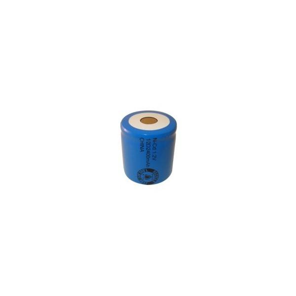Pile NiCD 1/2 D 2400 mAh tête plate - 1,2V - Evergreen