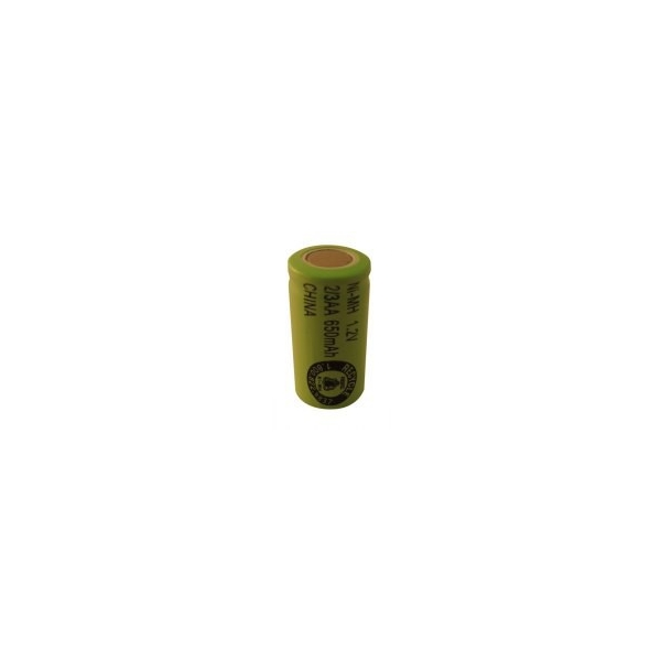 Pile NiMH 2/3 AA 650 mAh tête plate - 1,2V - Evergreen